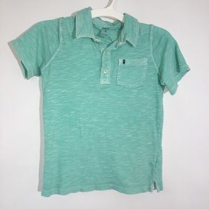 Boys Short Sleeve Blue Polo